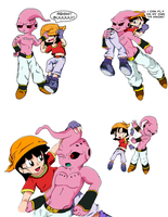DBZ/GT: Kid Buu and Pan by FoxySerriaAngel
