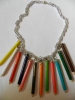 Colored Pencil Necklace by AtomicColor