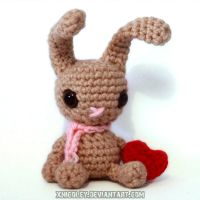 Tan Bunny Plushie by xnicoley