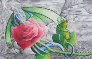 Flight of the Rose by Faeyne-Silvercloud