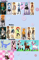 Closed! Free Adoptables! Mass Collection! by The-Lost-Hope