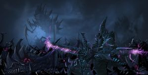 darkeldar vs tyranids by minenanoah