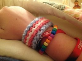 Transgender Pride Wristband by DammitMax