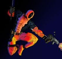 DeadPool Digital Coloring by exo-politic-2012