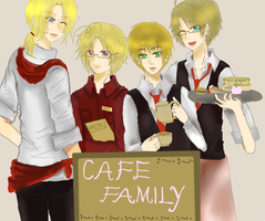 Cafe Family by JazminKitsuragi