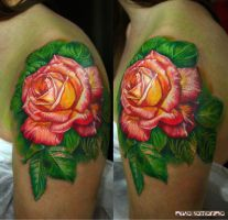 rose tattoo by NikaSamarina