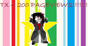 THANK YOU!!!!!! 200 PAGEVIEWS XD by Kapu-chan