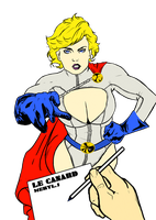 Power Girl Lineart By Shamall0w by SickSean