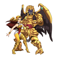 Scorpina and Goldar by ChicaG