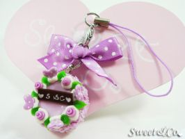 Rose Cake Cell Phone Strap by SweetandCo