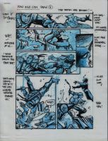IDW TMNT One Page Four by Kevineastman