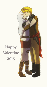 Happy Valentines Day 2015 by monochrome-penguin
