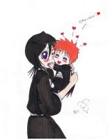 rukia and baby colored by Pamianime