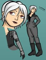 Silver-haired Space Girl by lightfootcomics