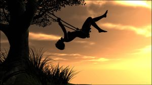 Swinging in the sunset - 2 by Sedorrr
