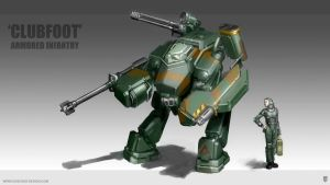 'Clubfoot' Armored Infantry by MikeDoscher