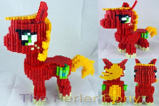 My Little Pony 3D Perler Big Mac by Perler-Pony