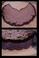 Redheart - Be a friend/have a heart crochet shawl by evilkitten25