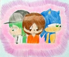 N x Me x Sonic- Love Triangle by shayminlover492