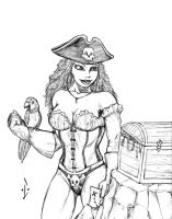 Pirate Babe by DW-DeathWisH