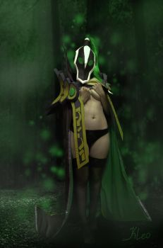 Rubick dota 2 female by Kleophina
