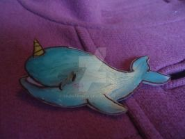 Narwhal shrinkydink pin by ShugarMish