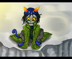 MSPA - Nepeta - Look Down by Wyrmin