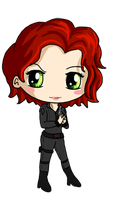 Black Widow Chibi by IcyPanther1