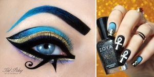 Katy Perry Dark Horse inspired makeup and nail-art by scarlet-moon1