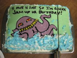 Ultros Cake by Destinyknights