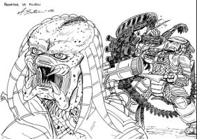 Predator Sketch by Alpha-Predator