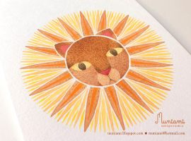 Mandala Lion Sun by natalianinomiya