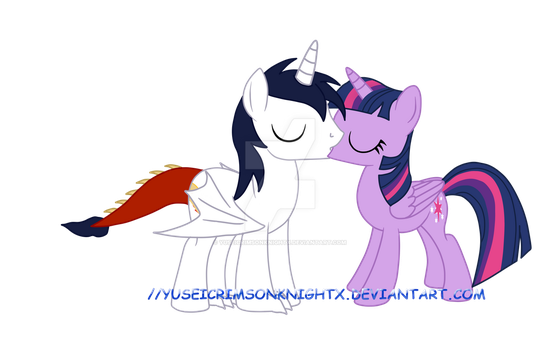 Draconne and Twilight Kiss! by YuseiCrimsonKnightX