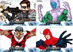 Avengers sketchcards set 8 by SpiderGuile