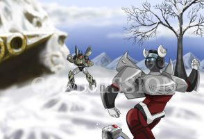 Commission: Snowball Fight by Ty-Chou