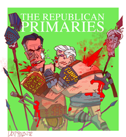 Mitt Romney and Newt Gingrich: fight to the death by Dextorius