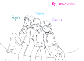 Ryo, Tairin, and Kura by Tanaxanime