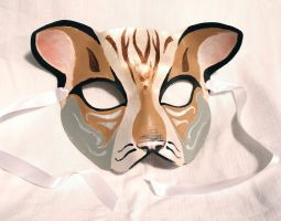 Leather Cat Mask by SerenFey