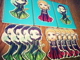 Loki and Thor Stickers by chevalier16