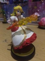 Custom Princess Peach Fire Flower amiibo by Yoshi9288