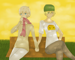 .:TakaDai:. OTP Challange Day 1- Holding Hands by Cookie-Catt