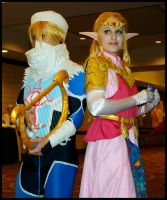 Princess Zelda and her guardian Shiek by EpicLevelSorcerer