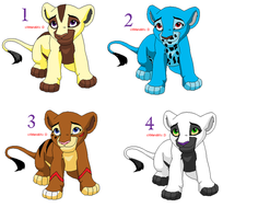 Lion Cub Adopts OPEN by BlackWolf1112-ADOPTS