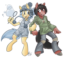 Bubble Trouble and Brownie by Shellsweet