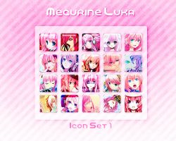 Megurine Luka Icon Set 1 by Xoriu
