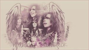 Andy Biersack - Wallpaper by OmgKltzEdition