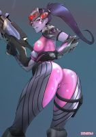 Widowmaker Overwatch by zedeki-arts