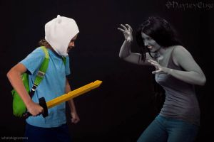 Adventure Time: Finn and Marcy by HayleyElise