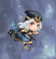 League of Legends - Ashe Chibi by GM-Pi