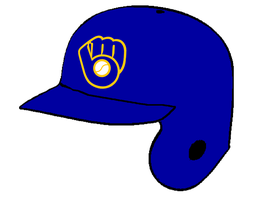 Brewers Throwback Batting Helmet by Chenglor55